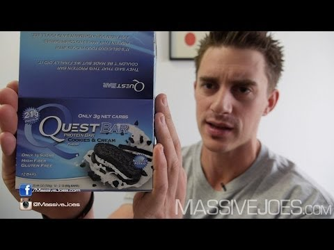 Quest High Protein Bar Video Review - MassiveJoes.com RAW REVIEW Quest Nutrition Bars