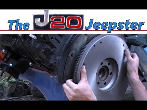 Jeepster Installing flywheel and clutch