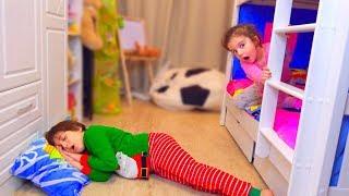 Аминка УЗНАЛА что ДЕЛАЕТ Камиль НОЧЬЮ когда ВСЕ СПЯТ! Для детей kids children