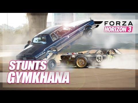Forza Horizon 3 - Hoonicorn Gymkhana Challenge! (Stunts & Fun)