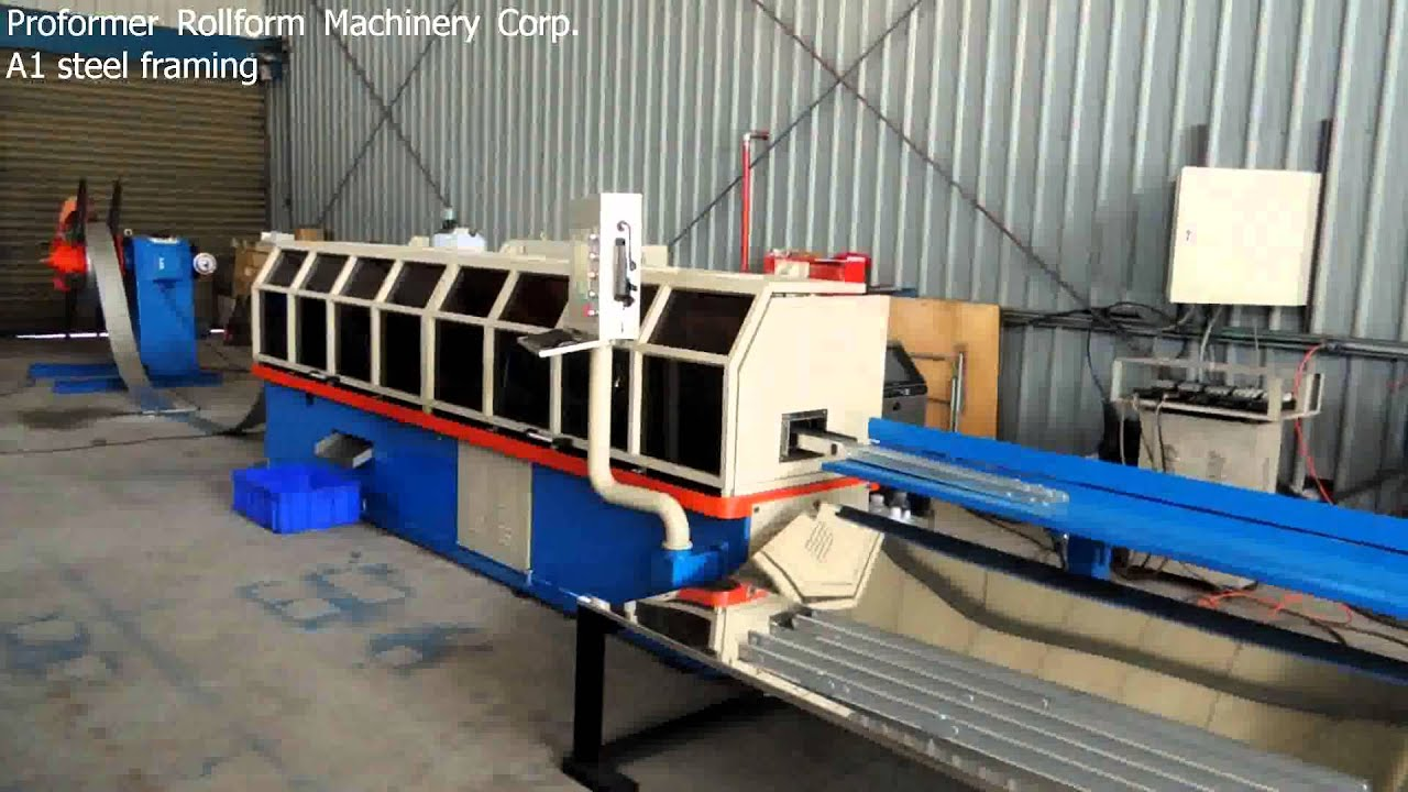 A1 steel framing machine - YouTube