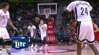 2017-03-27  Nets vs Hawks Jeremy Lin's Offense & Defense Highlights