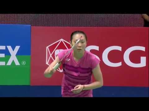 SCG Thailand Open 2017   Badminton SF M2-WS   Ratchanok Intanon vs Zhang Beiwen