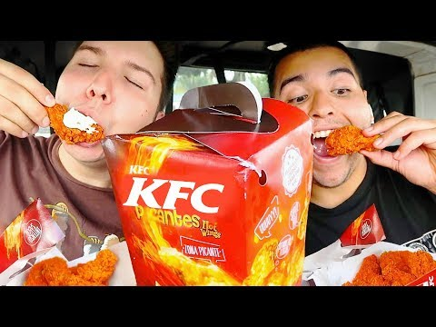 KFC Flamin' Hot Spicy Chicken • Car Eating Show • MUKBANG
