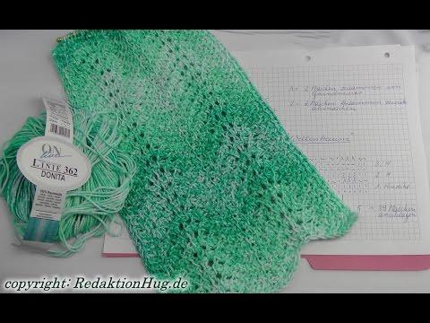 Tunesisch Häkeln Schal Im Muster Wellentraum Veronika Hug Youtube