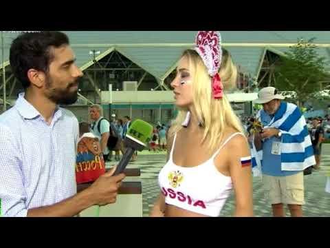 XXX Наталья Немчинова (Андреева) дала журналисту Самая красивая болельщица про Россиию на ЧМ 2018