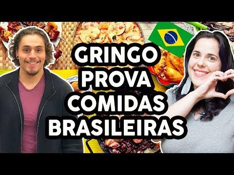CANADENSE PROVA COMIDAS BRASILEIRAS - Será que ele aprovou?