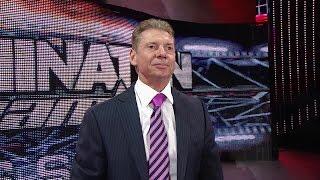 Mr. McMahon addresses the WWE Universe in Nassau Coliseum