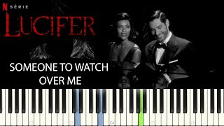Lucifer S5 - Someone to watch over me    PIANO TUTORIAL    SHEET & MIDI