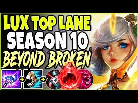 TOP LANE LUX SEASON 10 GODDESS 🔥 BEYOND BROKEN LUX BUILD 🔥 LOL Lux Vs Yasuo S10 League Of Legends