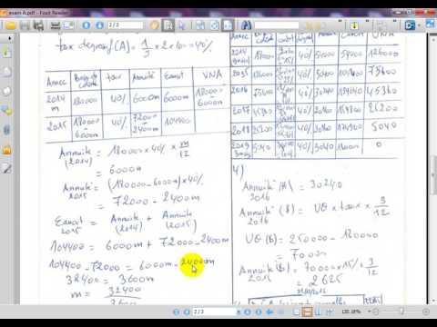 """Comptabilité générale S2 Examen N° 1 """" amortissement et provision """""""