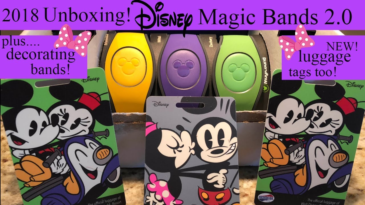 UNBOXING! Disney Magic Bands 2.0 / NEW Luggage Tags/ Decorating My Magic Bands! 2018!