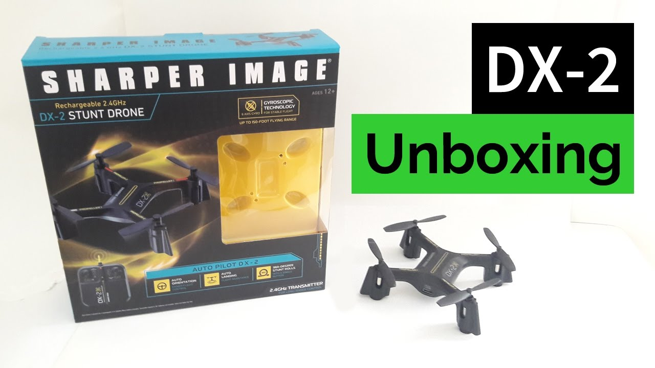 Sharper Image Dx 2 Stunt Drone Unboxing Youtube
