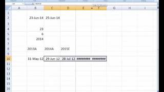 Date Functions in MS Excel for Financial Modeling