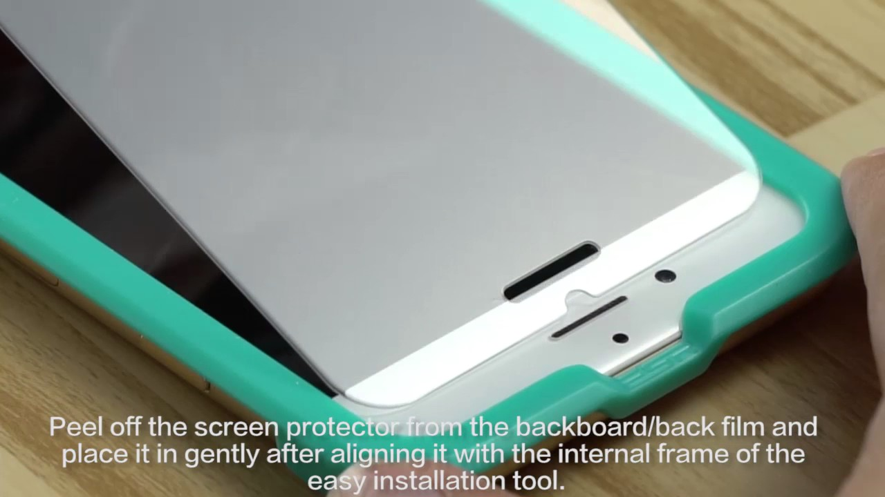 How To Install Tempered Glass Screen Protector With Esr Free Applicator For Your Iphone 8 Youtube