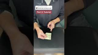 Finger through bill tutorial #shorts
