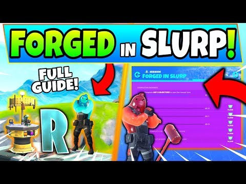 Fortnite FORGED in SLURP CHALLENGES GUIDE! - Fortnite R and Compact Cars Location (Chapter 2)