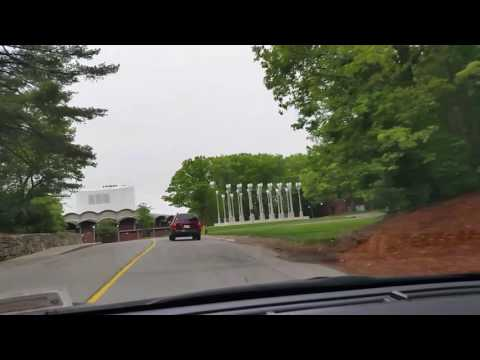 Driving Around Brandeis University in Waltham, MA