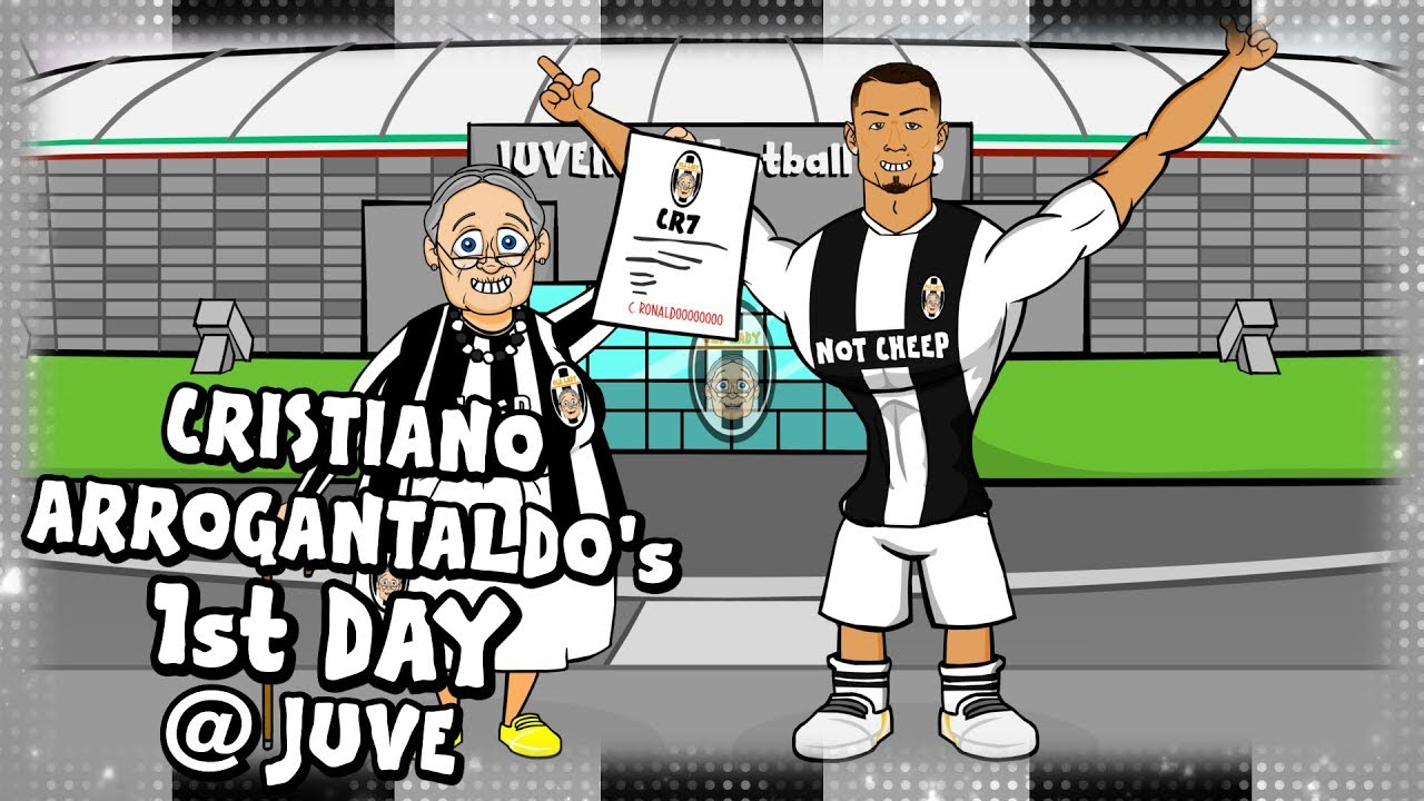 ⚫⚪RONALDO's FIRST DAY AT JUVENTUS⚪⚫ (Parody CR7 transfer cartoon)