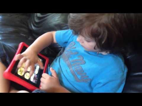 Nabi 2! Droid Drums app: one of Caleb's Favorites! :)