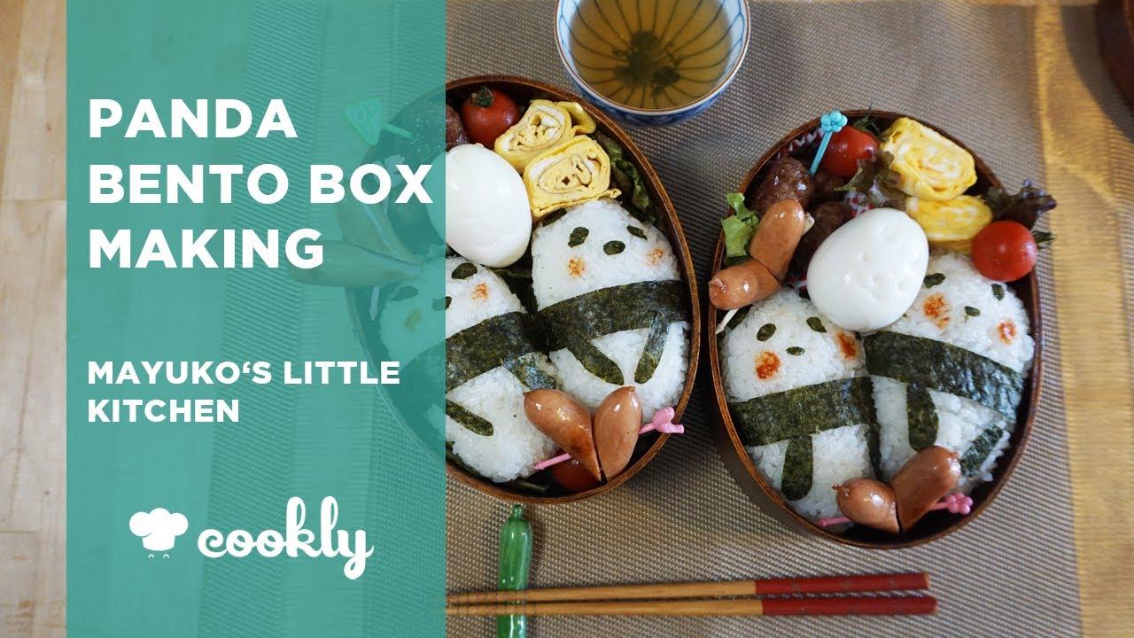 Panda Bento Box Making at Mayuko\'s Little Kitchen in Tokyo - YouTube