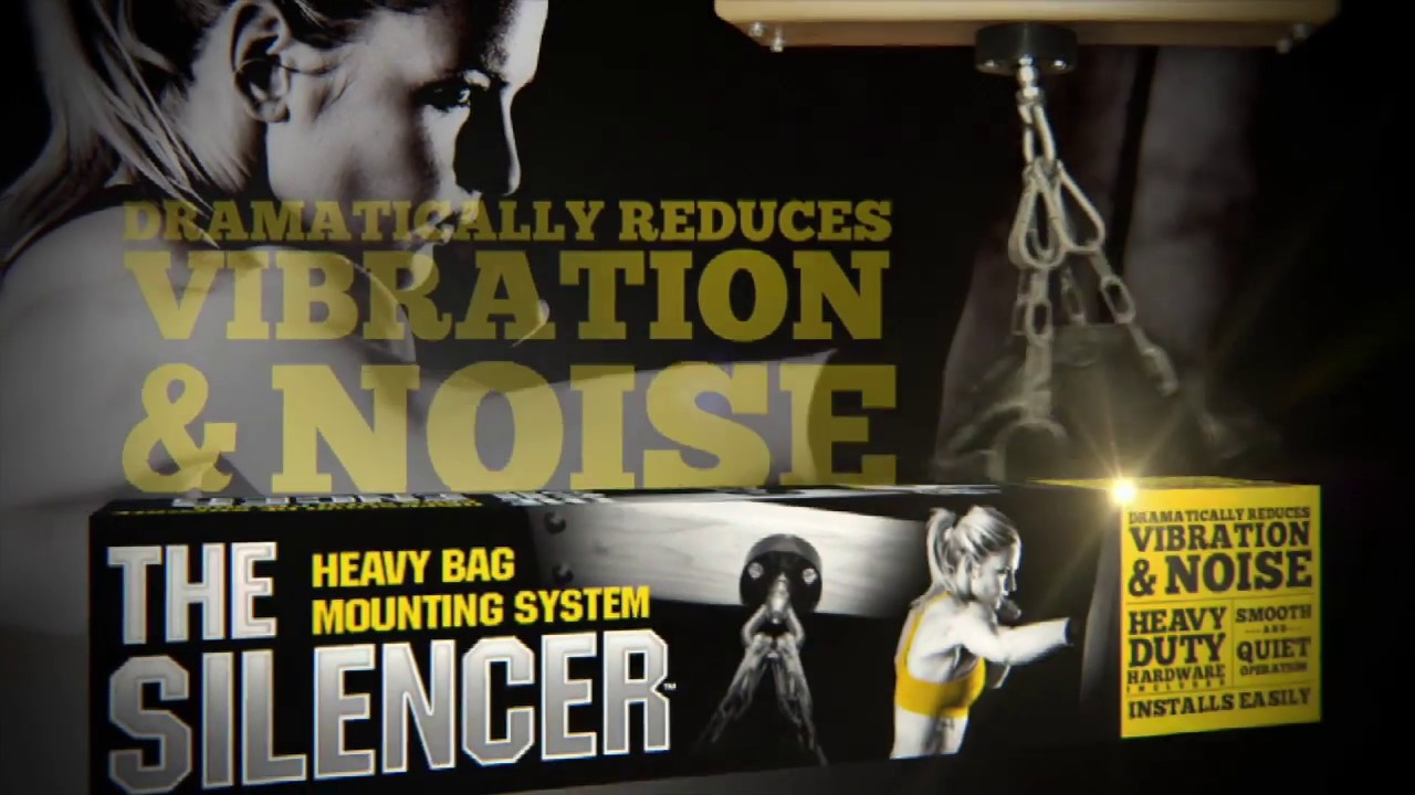 the silencer heavy bag hanger mounting bracket - youtube
