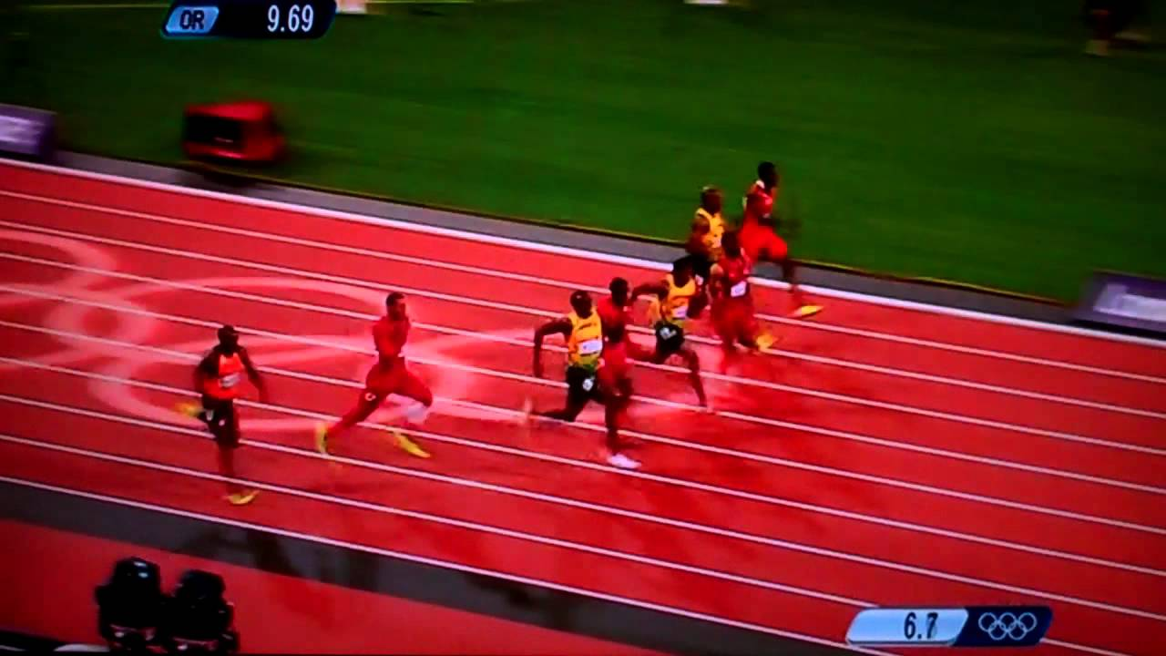 London 2012 Olympic Final 100m Usain Bolt wins - YouTube