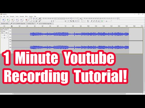 Recording Youtube Audio With Audacity  (Fast Tutorial)