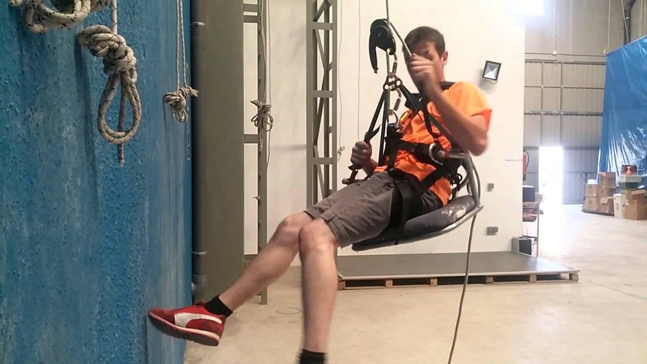 Silla modelo altur para trabajos verticales youtube for Sillas comodas para trabajar