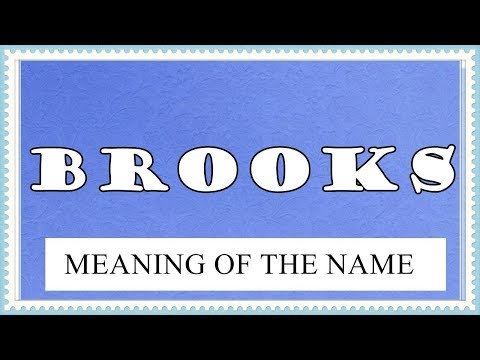 MEANING OF THE NAME BROOKS, FUN FACTS, HOROSCOPE