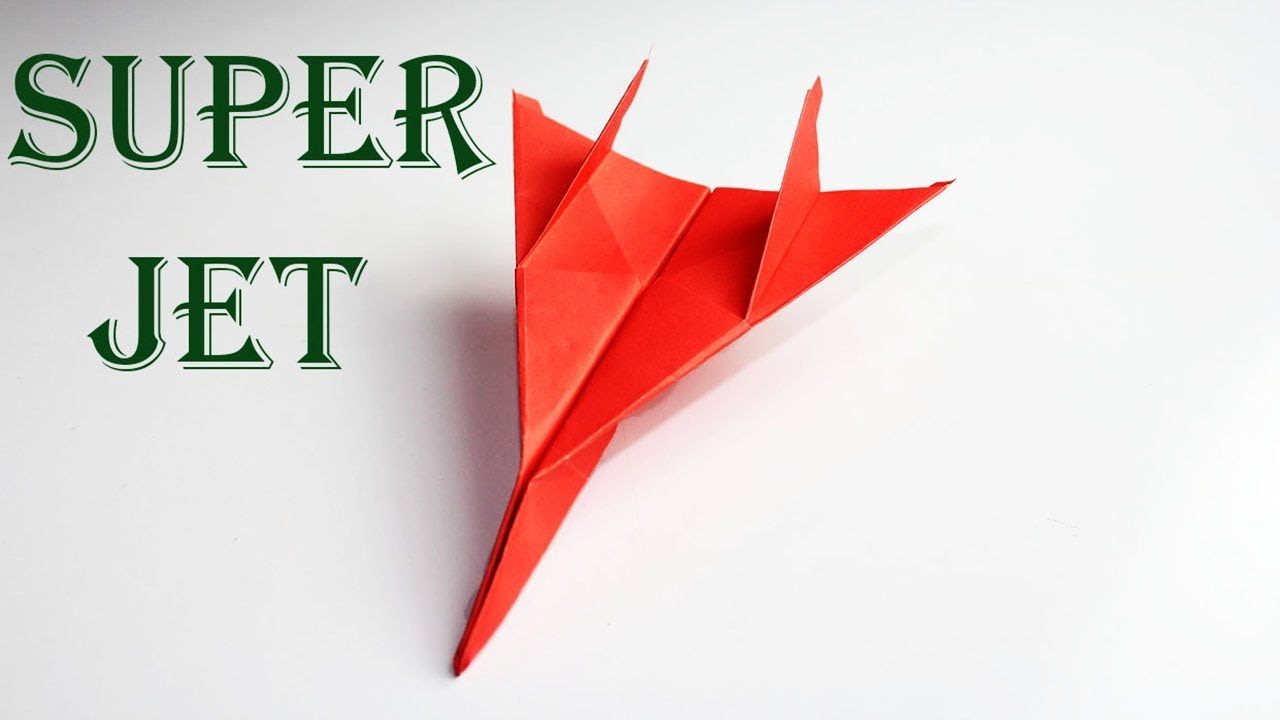 super jet paper airplane how to make fighter jet paper airplane