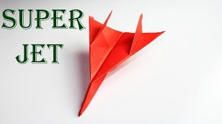 Super Jet Paper Airplane  How To Make Fighter Jet Paper Airplane  Airplane  Origami Fighter Jet
