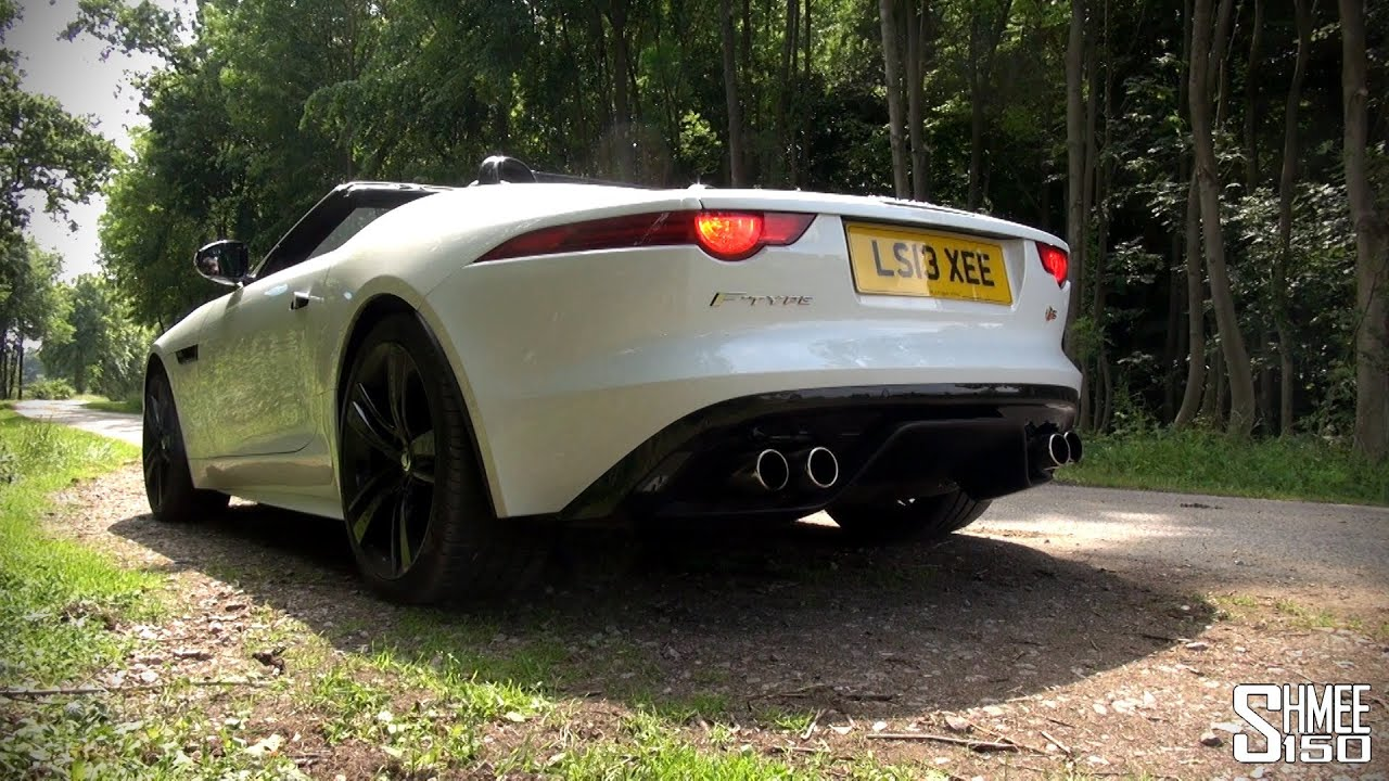 jaguar f type v8 s huge revs and exhaust sounds youtube. Black Bedroom Furniture Sets. Home Design Ideas