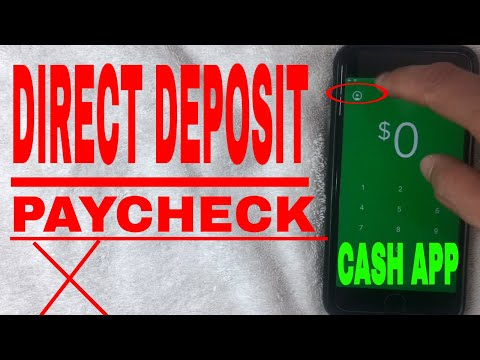 ✅ How To Setup Payroll Paycheck Direct Deposit To Cash App