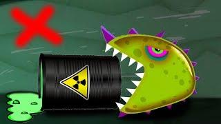 Лизун слизняк который очень хотел кушать. Mutant Blobs Attack