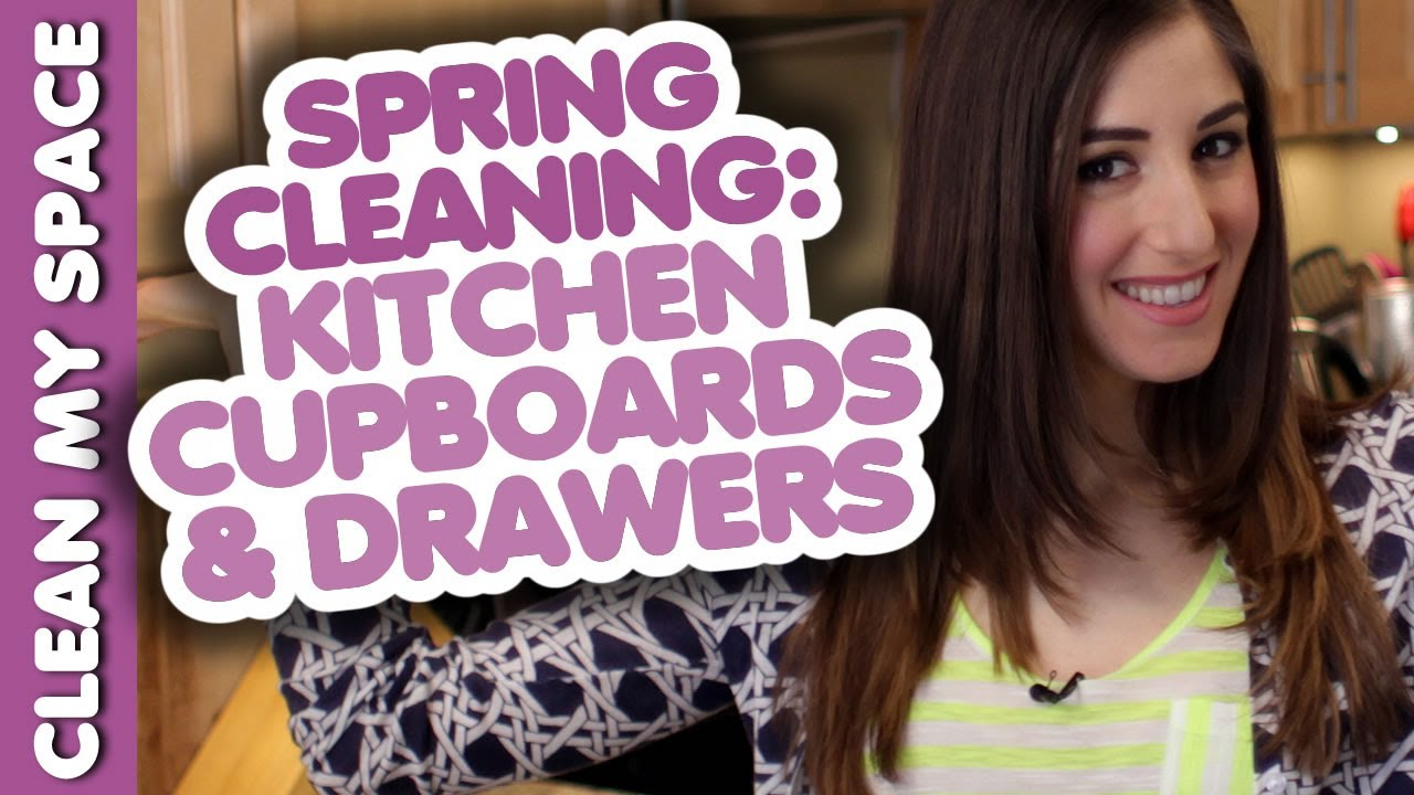 cleaning kitchen cupboards u0026 drawers spring cleaning how to