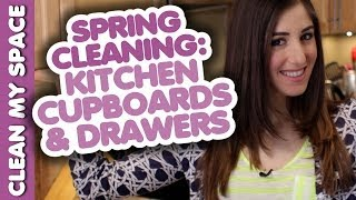 Cleaning Kitchen Cupboards & Drawers: Spring Cleaning! How To Clean A Kitchen (clean My Space)