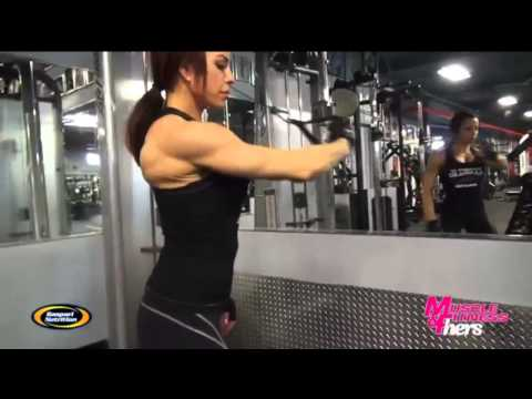 Ava Cowan - Muscle and Fitness for Hers - Shoulder Workout