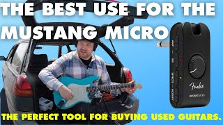 You should use the @Fender Mustang Micro differently than most people.