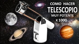 Como Hacer un Potente Telescopio Casero - (Experimentar En Casa)