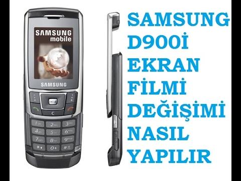 Samsung D900İ Ekran Filmi Değişimi (Nostalji )