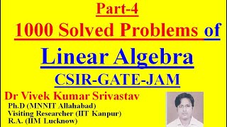 Part-2: (11-25) Ques/Study Material of Linear Algebra for