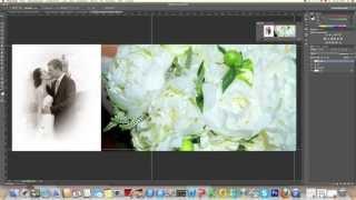 как быстро сделать свадебный альбом/how to create a wedding album