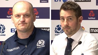 Scotland v France - Gregor Townsend & Greig Laidlaw Post Match Press Conference - Six Nations