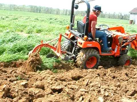 Kubota Bx2200 Plowing The Garden Youtube