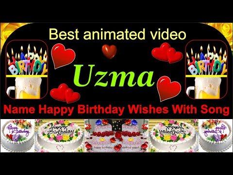 Uzma Name Birthday Wishes Song Best Uzma Name Creative Design