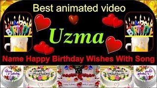 Uzma name birthday wishes song best uzma name  creative design bithday wishes by ample tube
