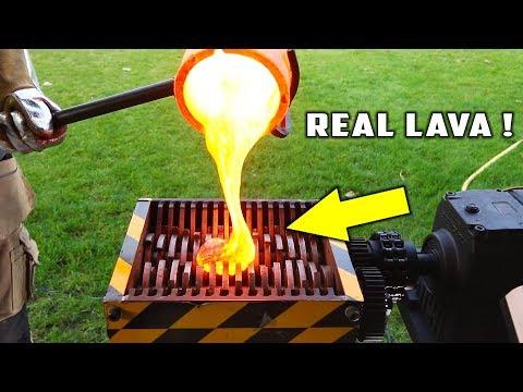 SHREDDING MACHINE VS BALL OF LAVA!