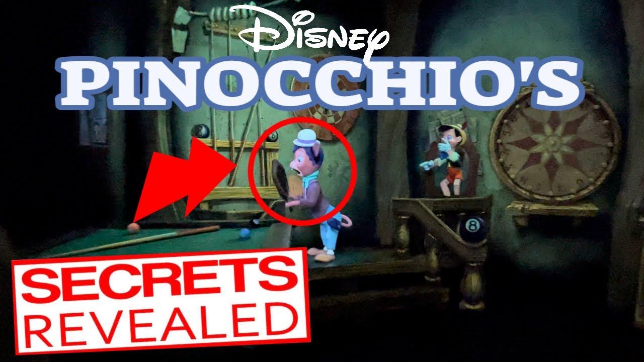 Disneyland's Pinocchio's Daring Journey Ride SECRETS REVEALED