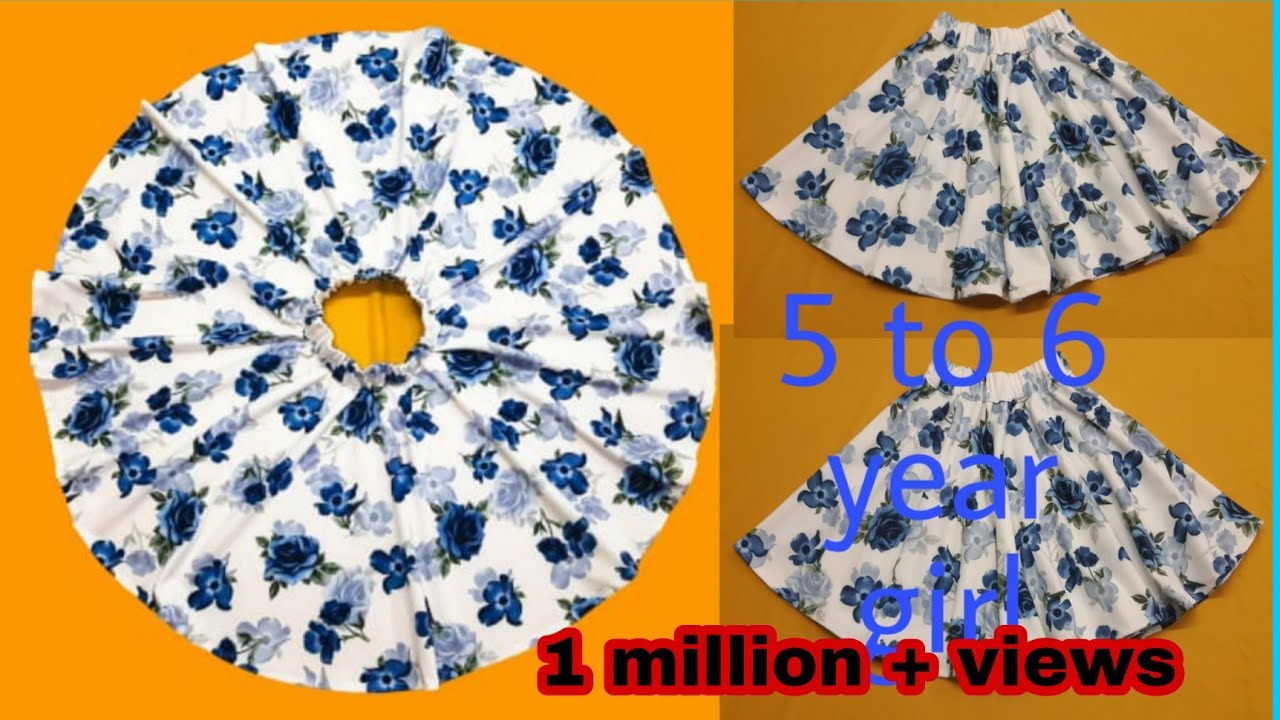 Download Full umbrella skirt  5 to 6 year girl cutting and stitching